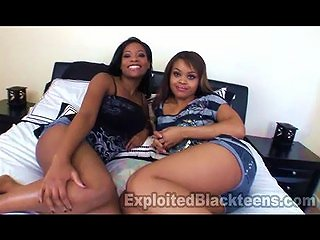 Two 18yr Old Ebony Teens In Threesome